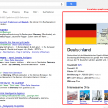 Knowledge graph is only supported in Google Chrome
