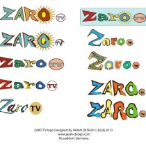 10 ten different ZARO TV logo designed & developed by Jarah Design on 26.Juni 2013